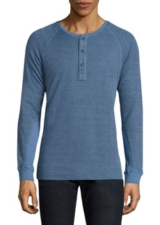 Splendid Textured Cotton Blend Henley