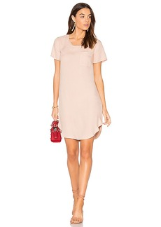 Splendid Mixed Media Shirt Dress in Pink. - size L (also in M,S,XS)