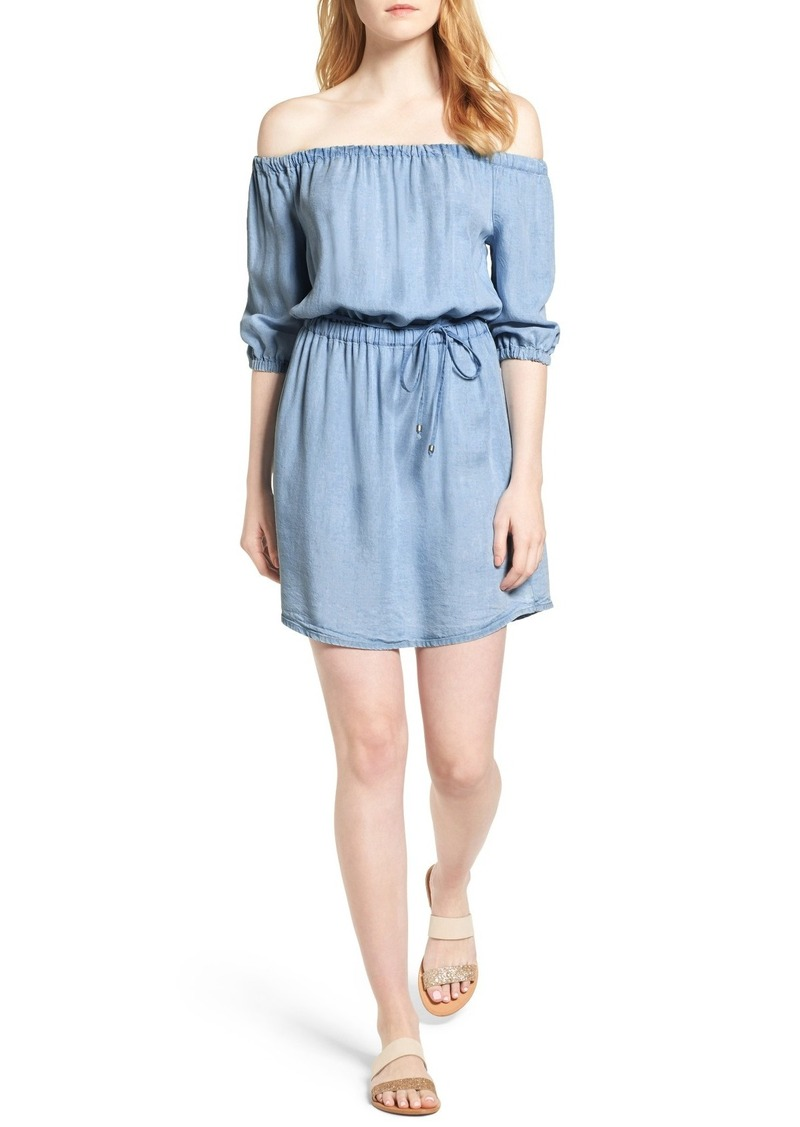 Splendid Off the Shoulder Blouson Dress