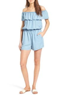 Splendid Off the Shoulder Chambray Romper