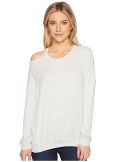 Splendid One Shoulder Sweatshirt