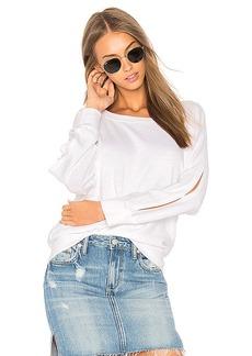Splendid Open Shoulder Sweatshirt in White. - size M (also in S,XS)