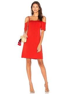 Splendid Open Shoulder Tee Dress in Red. - size L (also in M,S,XS)