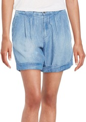 Splendid Pleated Denim Shorts