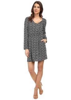 Splendid Plume Print Wrap Dress