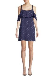 Splendid Polka Dot Cold-Shoulder Dress