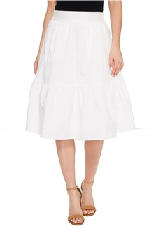 Splendid Poplin Knee Length Skirt