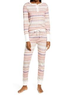 Splendid Print Thermal Pajamas