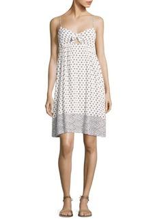 Splendid Printed Twist-Front Dress