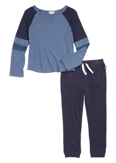 Splendid Raglan Sleeve T-Shirt & Sweatpants Set (Toddler Boys & Little Boys)