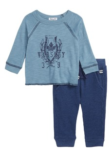 Splendid Raglan T-Shirt & Thermal Pants Set (Baby Boys)