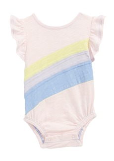 Splendid Rainbow Flutter Sleeve Bodysuit (Baby Girls)
