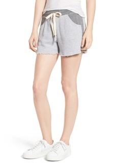 Splendid Raw Hem Sweat Shorts