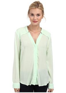 Splendid Rayon and Rib Long Sleeve Shirt