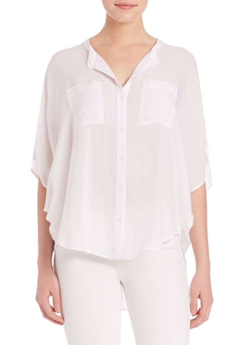 Splendid Rayon Voile Button-Up Blouse