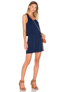 Splendid Rayon Voile Sleeveless Overlay Dress