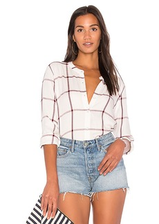 Splendid Reily Plaid Button Up in White. - size L (also in XS,S,M)