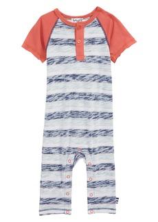 Splendid Reverse Stripe Romper (Baby Boys)