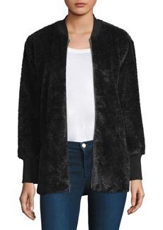 Splendid Rib Faux Fur Jacket