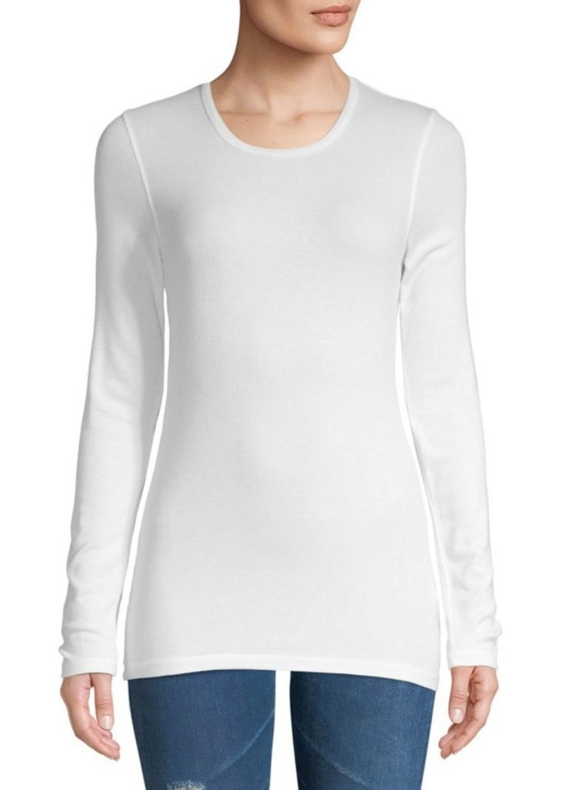 Splendid Ribbed Crewneck Long-Sleeve Tee