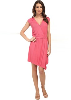 Splendid Ribbed Wrap Dress