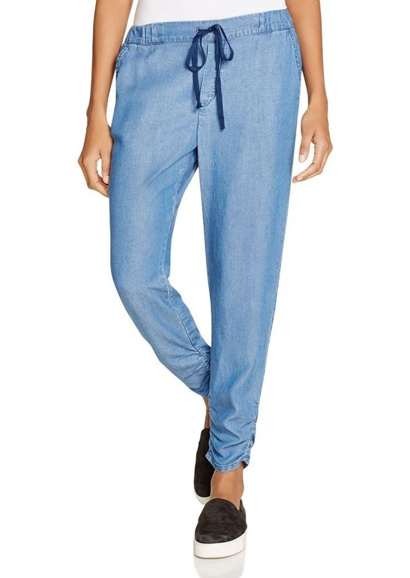 Splendid  Ruched Chambray Drawstring Pants - 100% Bloomingdale's Exclusive