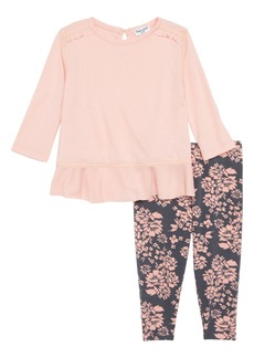 Splendid Ruffle Hem Top & Leggings Set (Baby Girls)