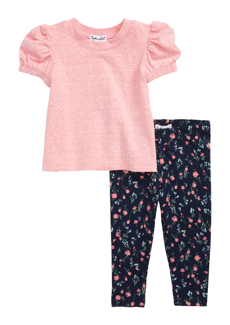 Splendid Ruffle Shirt & Floral Leggings Set (Baby)