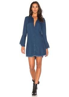 Splendid Ruffle Shirt Dress in Blue. - size L (also in M,S,XS)