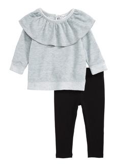 Splendid Ruffle Sweatshirt & Leggings Set (Baby Girls)
