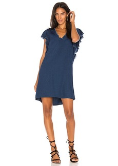 Splendid Ruffle Tank Dress in Blue. - size L (also in S,XS)