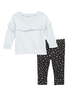 Splendid Ruffle Tee & Star Print Leggings Set (Baby)