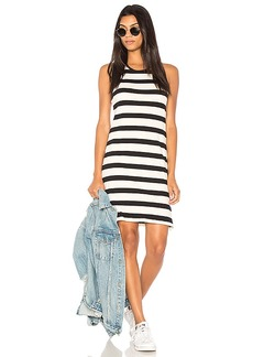 Splendid Seaboard Stripe Racerback Dress in Black & White. - size L (also in M,S)