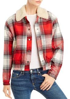 Splendid Sherpa-Collar Plaid Jacket