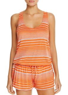 Splendid Sleeveless Striped Romper Swim Cover-Up