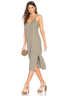 Splendid Slit Tank Dress in Olive. - size M (also in S,XS)
