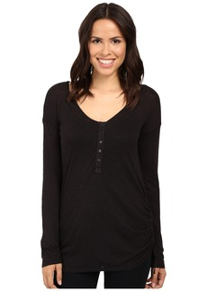 Splendid Slub Henley with Side Tie