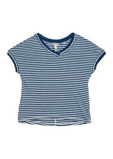Splendid Slub Jersey Striped V-Neck Tee  Size 7-14