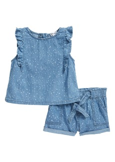 Splendid Splatter Chambray Top & Shorts Set (Baby)