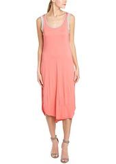 Splendid Splendid Contrast Trim Midi Dress