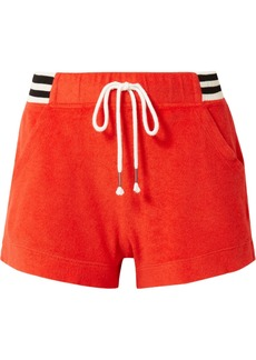 Splendid + Margherita Sportivo striped cotton and modal-blend terry shorts