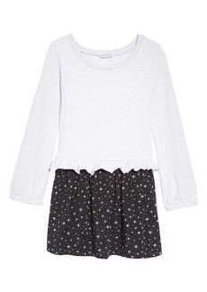 Splendid Star Print Ruffle Dress (Toddler Girls & Little Girls)