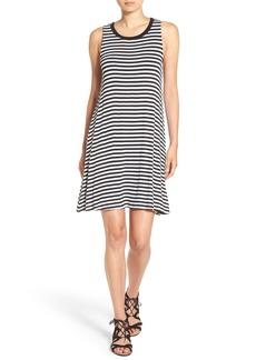 Splendid Stripe Drape Racerback Dress