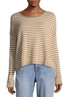 Splendid Stripe Long Sleeve Sweatshirt
