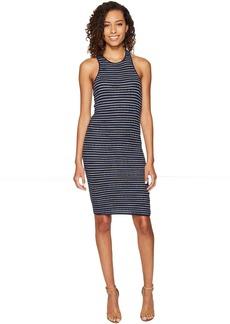 Splendid Stripe Rib Knit Tank Dress