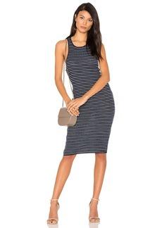 Stripe Rib Knit Tank Dress