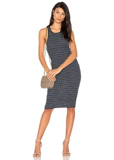 Splendid Stripe Rib Knit Tank Dress in Blue. - size M (also in S,XS)
