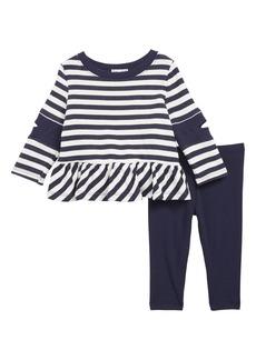 Splendid Stripe Ruffle Top & Leggings Set (Baby)
