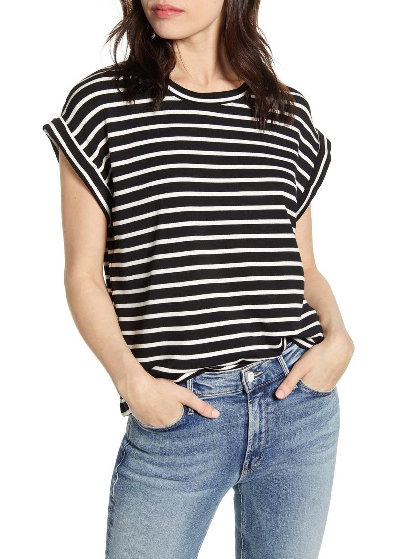 Splendid Stripe Short Sleeve Top