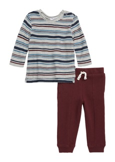 Splendid Stripe Sweatshirt & Sweatpants Set (Baby Boys)
